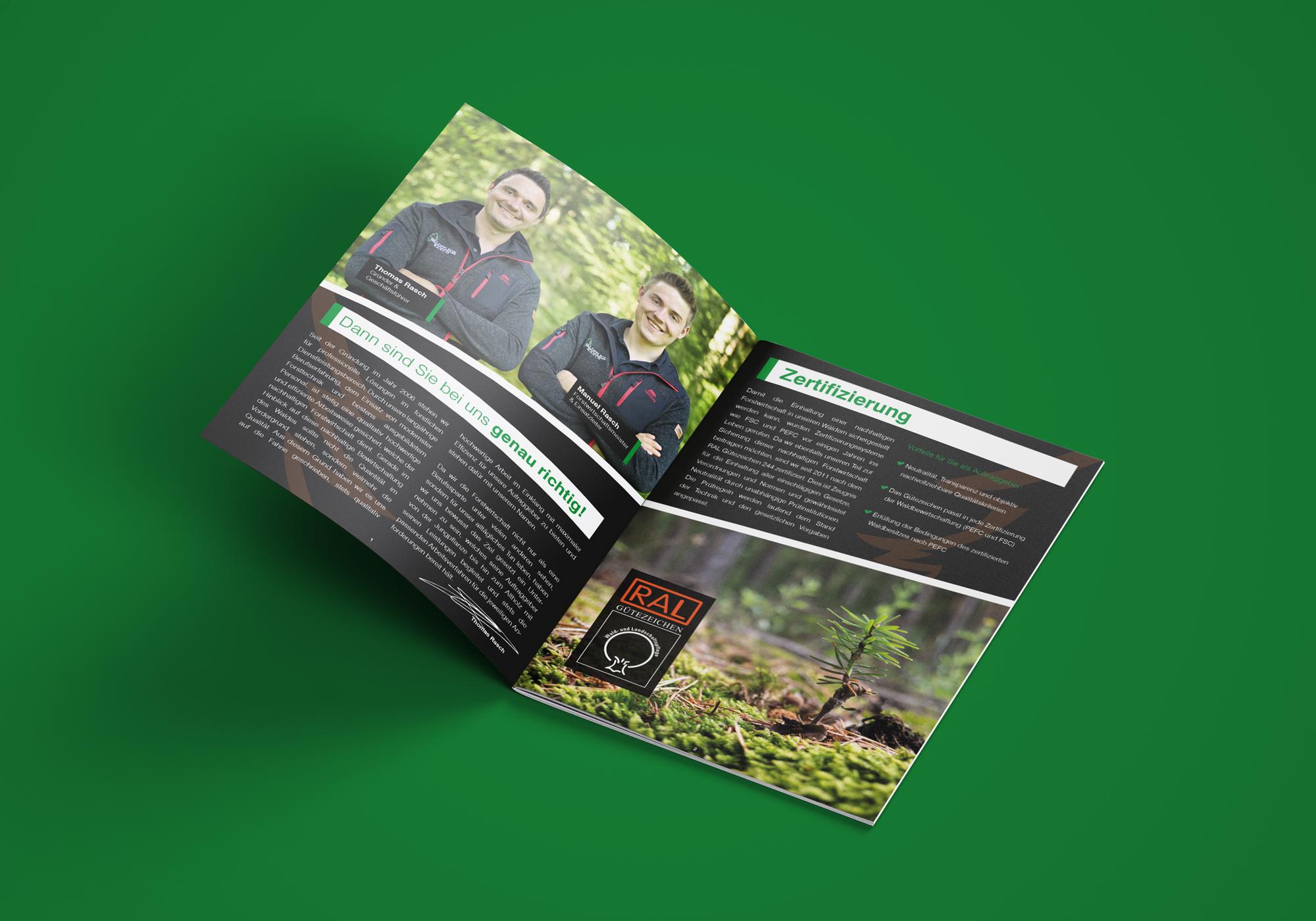 Broschüre A4 Waldpflege Rasch