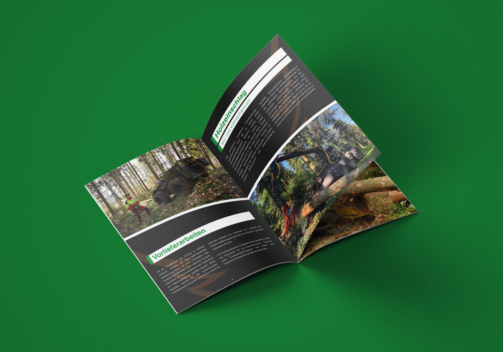 Imagebroschüre Waldpflege Rasch
