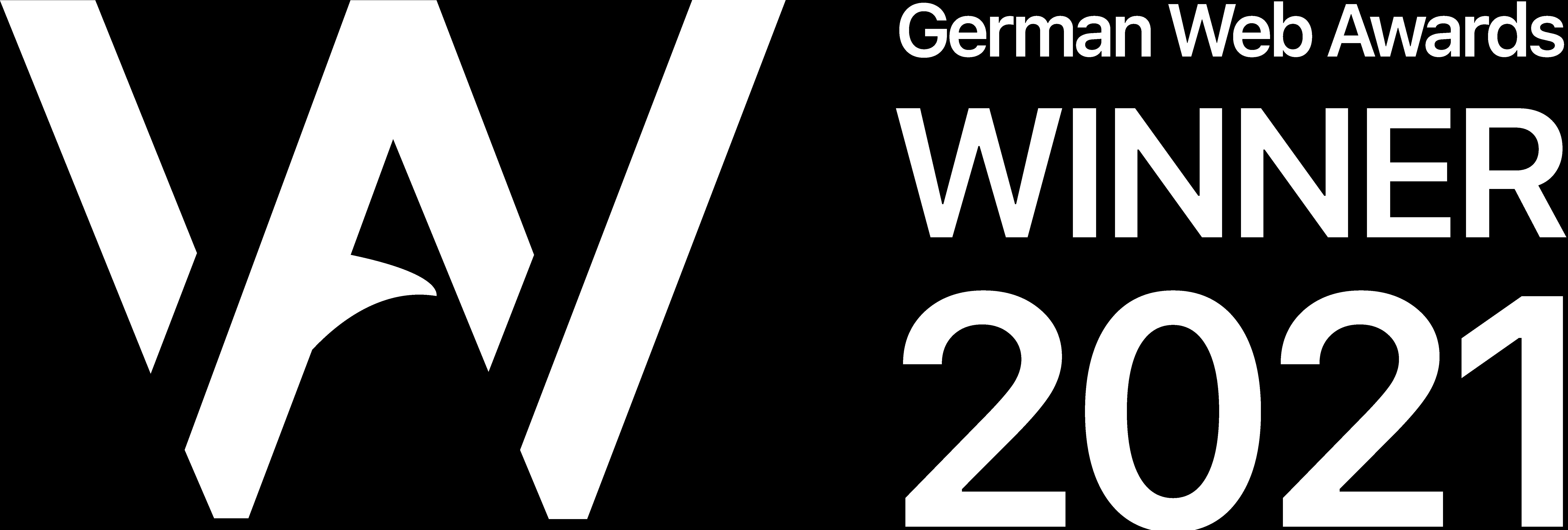 Winner German Web Award 2021